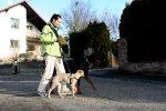 Erster Spaziergang mit Aramis am 26. Dez. 2009