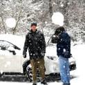 Auch die Zweibeiner freuen sich am Schnee!
