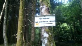 """Wir haben wieder dieselbe Route gewählt, den """"Chemin de Pierres"""""""