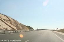 ... auf den französischen Autobahnen zu fahren - kein Gedrängel, fast kein Verkehr.