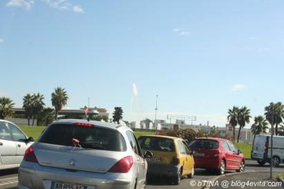 Erst bei Montpellier kamen wir in den Feierabendverkehr