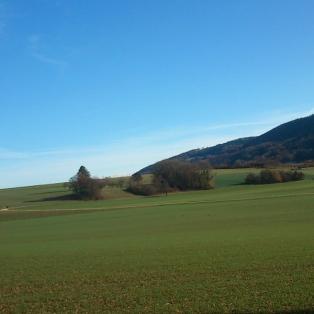 Landschaft zwischen Mariastein und Metzerlen